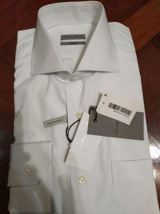 Camisa Emidio Tucci blanca,talla M/3