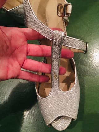 Zapatos plataforma fiesta plateados