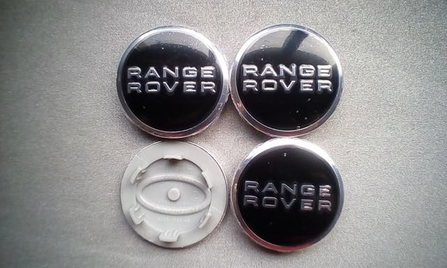 4 Tapabujes centro rueda Range Rover negro 63mm