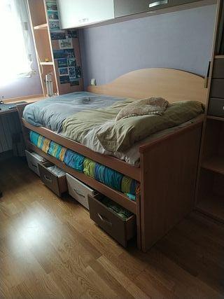 cama Nido con cajoneras y colchones