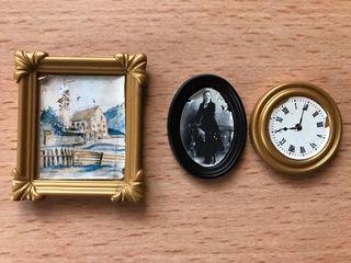 Playmobil lote 2 cuadros y reloj casa victoriana