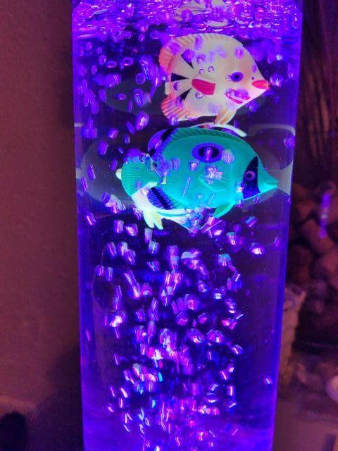 Lámpara pecera decorativa