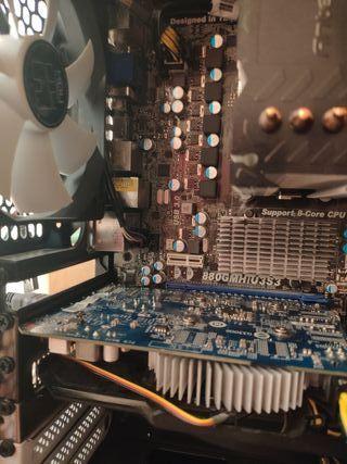 conjunto de placa, procesador,RAM,gráfica