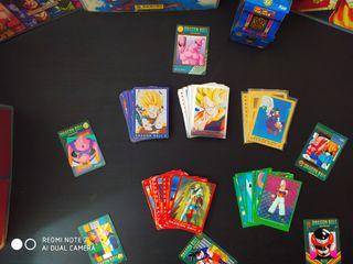 CARDS DRAGON BALL Z SERIE AZUL,ROJA,VERDE,PLATA