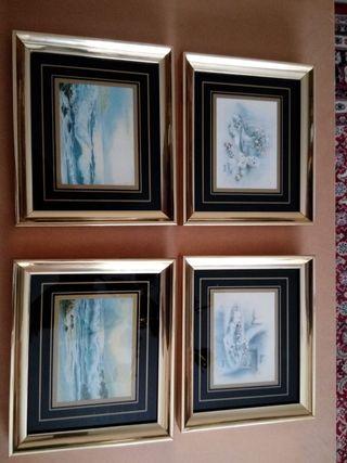 4 cuadros con las 4 estaciones
