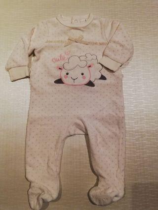 Pijama felpa bebé niña talla 3 meses