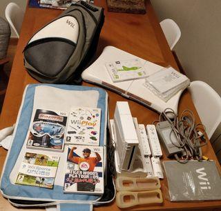 Nintento Wii + Wii Fit + Juegos + Mochilas