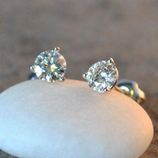 Moissanite Martini Stud Earrings 6mm (1.50ctw)