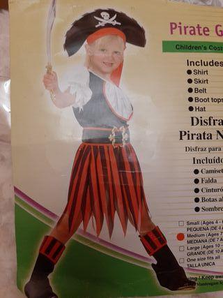 DISFRAZ PIRATA NIÑA ( 7 a 9 años)