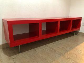 Mueble lack ikea roja