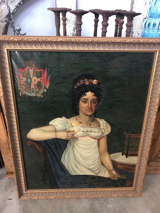 Cuadro pintura antigua de Belgica