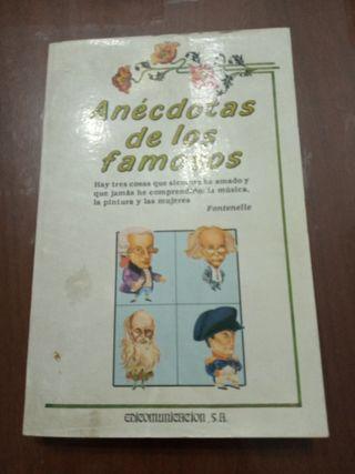 Libro Anécdotas de los Famosos.