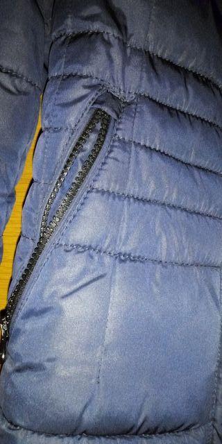 Chaquetón tipo pluma Mango azul marino