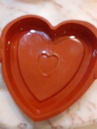 Molde silicona corazon