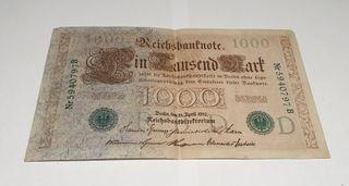 Billete antiguo Alemania 1910 MBC