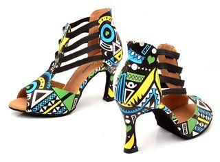 Zapato baile latino talla 35 tacón del 6
