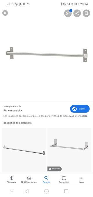Kitchen Ikea aluminiun bar + accesories