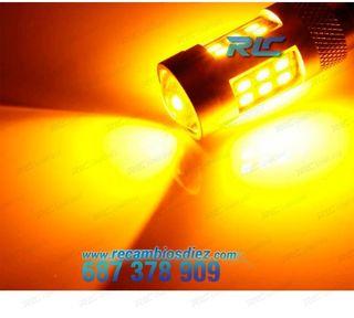BOMBILLA LED P21W AMBAR CANBUS