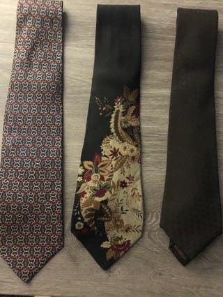 Corbatas de seda.