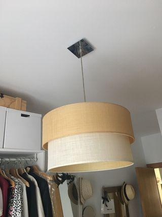 Lámpara de techo beige