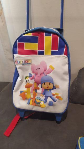 mochila con carrito nueva