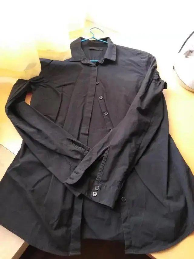 camisa negra Calvin Klein, talla 36, color negro.