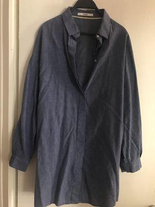 Camisa Uterqüe azul - M