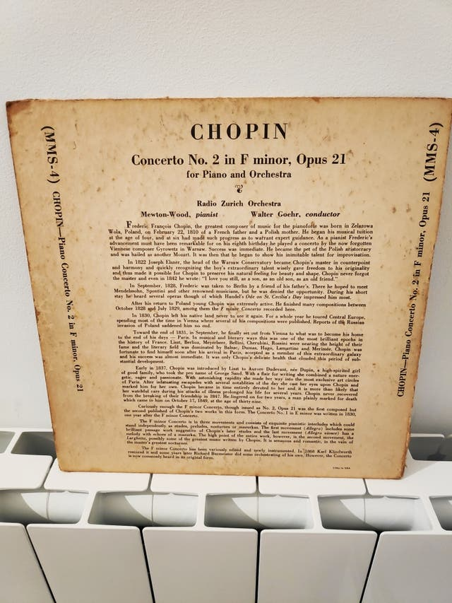 Chopin disco antiguo
