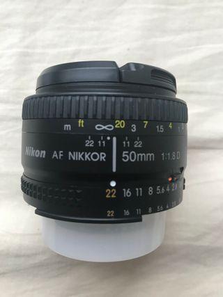 Objetivo Nikon 50mm f/1.8D AF NIKKOR Negro