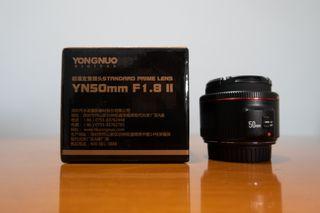 50mm YONGNUO YN50 mm F1.8 II Objetivo Canon