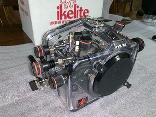 Carcasa de buceo + cámara Nikon D80