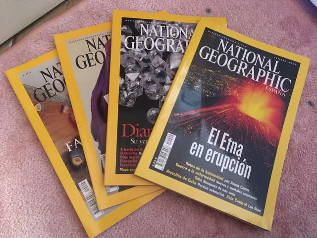 72 revistas National Geographic