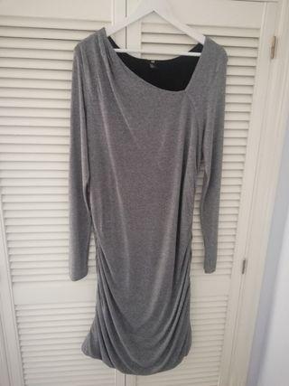 vestido de punto drapeado XL de H&M
