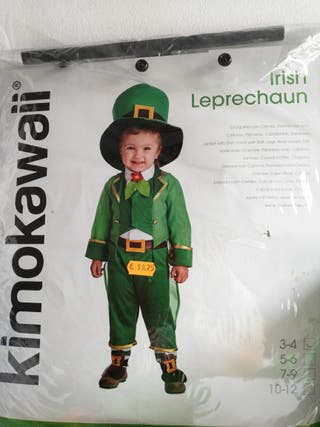 Disfraz duende Irlandés.3-4. usado dos horas