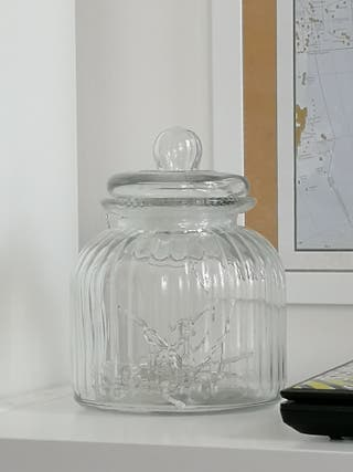 Sealed glass jar