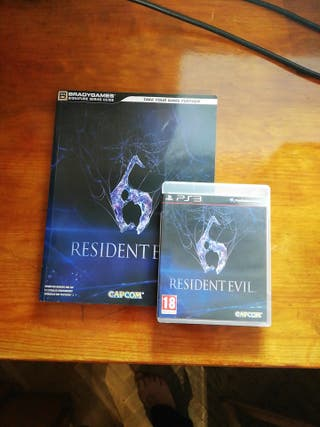 Resident Evil 6 y guía oficial PS3