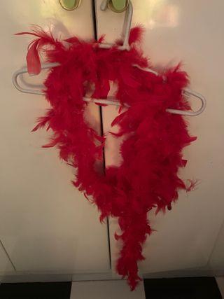 Bufanda de plumas