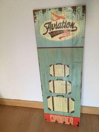 Cuadro de madera decorativo viaje