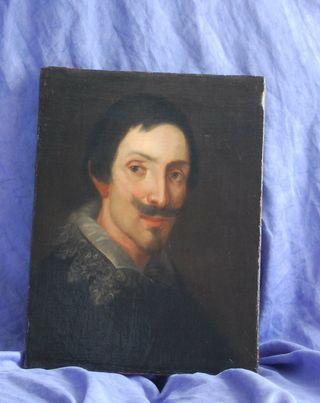 cuadro siglo XVII oleo antiguo