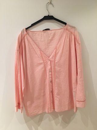 Camisa rosa Zara