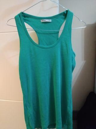 Camiseta tirantes básica verde