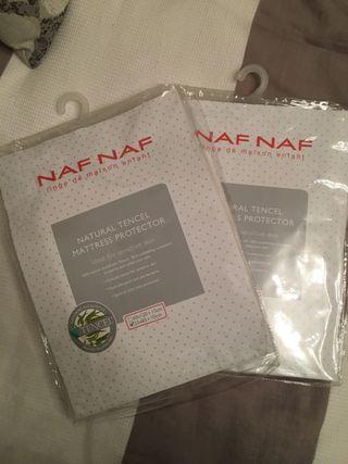 Sabanas blancas minicuna Naf Naf pack de 2