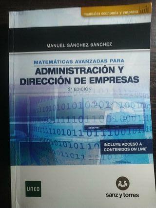 Libro matemáticas III ADE UNED 3a Edición,