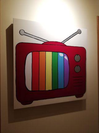 Cuadro Televisor antiguo