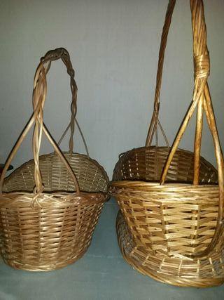 cesta grande y pequena