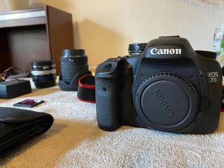 Canon 7d + 4 lentes + accesorios