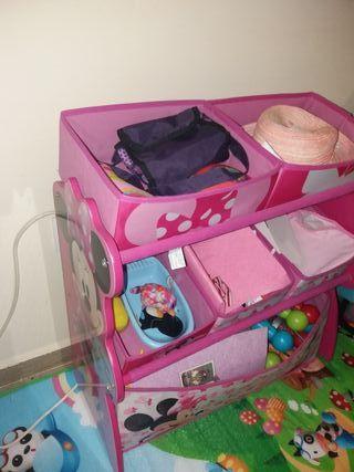 Cajonera organizador de juguetes de Mini Mouse