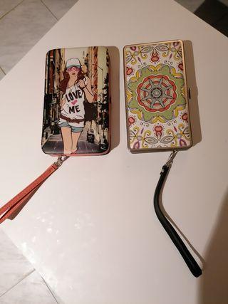 carteras rígidas para móvil, tarjetero y monedero