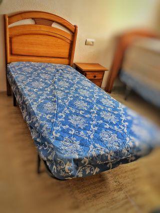 Cama de 90 con somier, colchón y cabecero