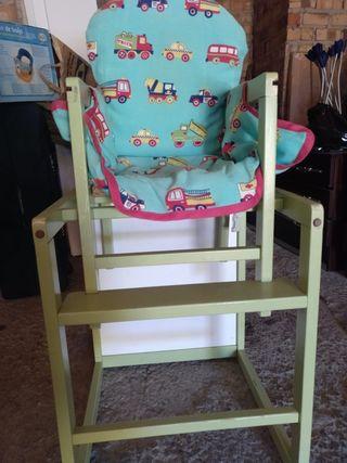 trona bebes convertible en mesa y silla